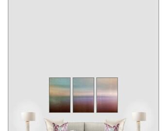 Minimal landscape, photo, surreal art, purple, light blue, horizon sea, dreamy photo, huge giclee canvas, museum quality, abstract modern