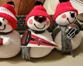 Buccaneers Football Snowman 3 styles OOAK