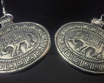 Silver elephant shields