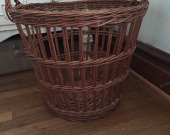 Vintage Large Handled Basket