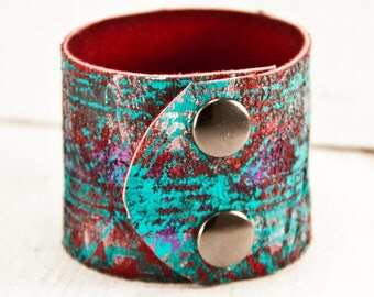 Leather Cuff Jewelry For Women, Boho Fashion, Perfect Gifts, Unique Shops, Best Trends, Lovely Finds, Accessories, Hand Painted Leather