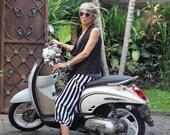 Kadek Wide Leg Culotte Pants, Sizes XS - 2X, Wide Leg Pants, Bali Batik, Rayon, My Bali Closet