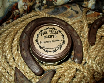 Stocking Stuffers- 4 oz mason jar Western Texas Cowboy candle