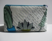 Succulents Makeup Cosmetic Bag Zipper Pouch Heather Givans