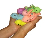 Easter Pastel Little Birds Pdf Email Knit PATTERN