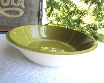 Vintage Mikasa Avocado Green Serving Bowl Vegetable Bowl works with Strawberry Hill