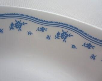 Vintage Corelle Morning Blue Serving Platter Oval