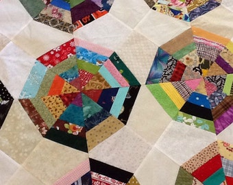 Scrappy Spiderweb Unfinished Quilt Top