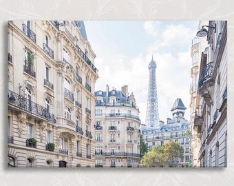 Paris Photograph on Canvas, Under Paris Skies, Architecture Fine Art Photo on Canvas, French Home Decor, Large Wall Art