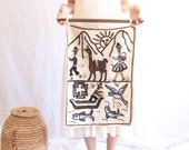 vintage woven wool wall hanging