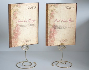 Romantic Quotes Vintage Book Cover Table Cards with Numbers- Book Or Movie Themed Table Number Cards - Special Events - Weddings