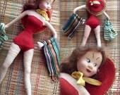 Vintage Klumpe Roldan Doll:  1950's Bathing Beauty