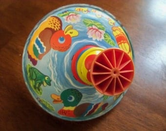 vintage child's spin top toy