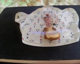 Lucite tea pot  spoon rest vintage  kitchen item