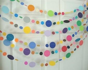 Colorful circle party garland