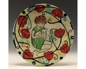 Ceramic Dessert Plate - With the Kitty