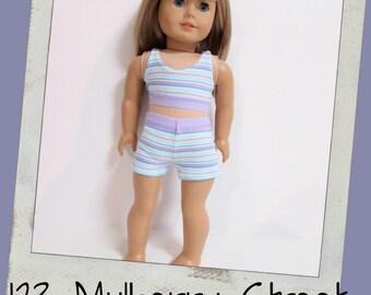 """18""""  Doll Clothes - GOTCHIES- Pastel Stripes"""
