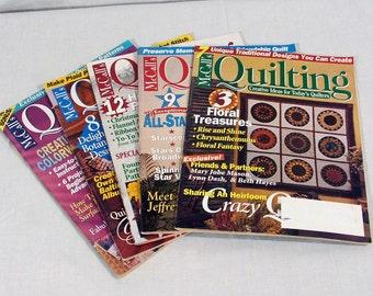 McCalls Quilting Magazines 1996 Lot of 5