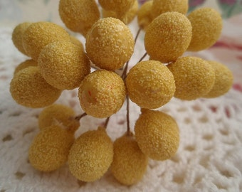 Vintage Millinery LEMONS Yellow Fruit Made in Western Germany Crafts Hat Making 1950's