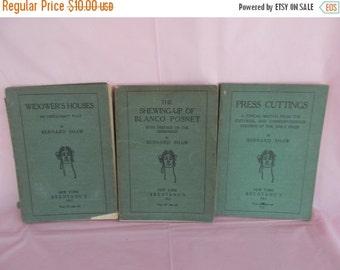 Antique /Vintage Bernard Shaw Play Books /Lot