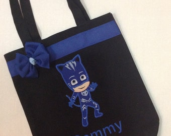 Personalized Tote Bag, Personalized Tote, PJ Masks Bag, PJ Masks Tote, Pj Masks Gift, Personalized PJ Masks, Catboy, Owlette,Gekko