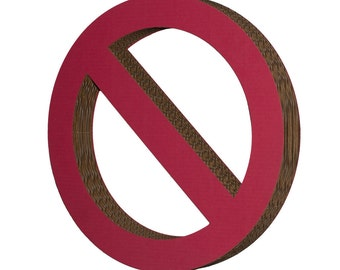 Cardboard Prohibition Sign