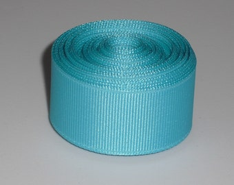 Turquoise 7/8 inch Solid Grosgrain Ribbon 10 yards