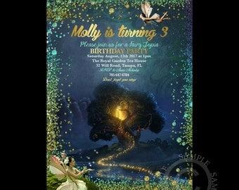 Printable Birthday Invitation Fairy Theme DIGITAL Customized for any age