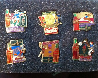 1996 Olympic Firsts / Coca Cola Pins