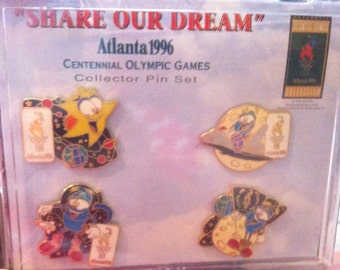 1996 Share Our Dream collector pin set