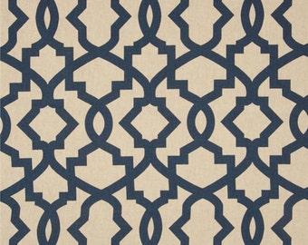 "Fabric shower curtain, Sheffield indigo laken Sheffield, 72"", 84"", 90"", 96"", 108"" custom sizes available"
