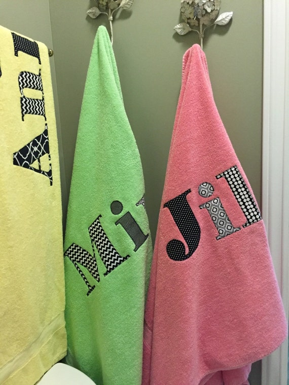 personalized name towels with high school logo water polo