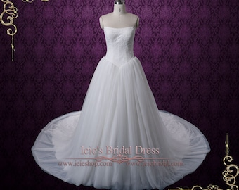 Timeless Tulle Ball Gown Wedding Dress With French Lace