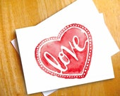 Digital Download - Hand Lettered Love Heart - Valentine's Heart