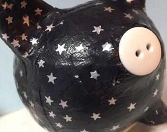 Starry Night Constellation Decoupage Piggy Banks