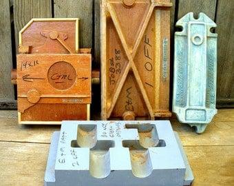 Vintage Set of 4 Industrial Molds for Artwork, Sculpture or Display