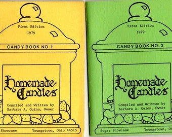 Homemade Candies Cook Books No.1 and 2 Marshmallow Nut Butter Creams Cream Centers Taffy Peanut Butter Hard Candies Sweets Treats