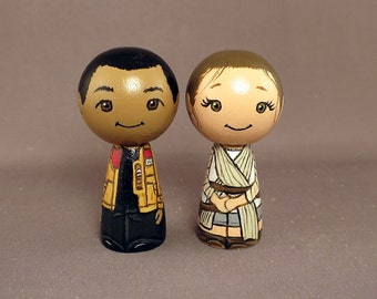Finn Rae Star Wars Wedding Cake Toppers