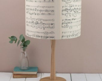 Vintage Sheet Music Lampshade, aged paper light shade some featuring words, available also in pendant, ceiling shade