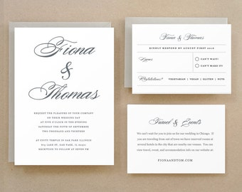 Wedding Invitation Template, Printable Wedding Invitation, Lucky Script, Word or Pages, 100% Editable, Cheap Invitations,  INSTANT DOWNLOAD