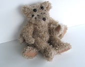 Beige Spider Bear, scary and cute monster recycled stuffed toy