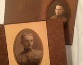 RESERVED World War I WWI Soldier Portrait - SATC Infantry - Lot 2 Photographs - Militaria - 1910s