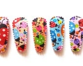 25 pcs  Mix color ladybird Hair Clip cover for toddler  - size 35 mm
