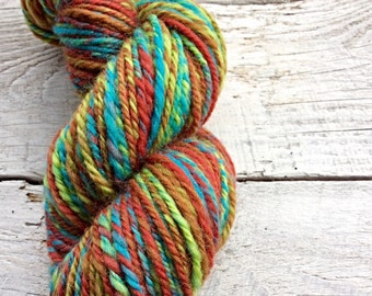 One of a kind Aran - heavy worsted weight - handspun yarn - variegated - handmade - luxury wool - crocheting - knitting - gift for knitters