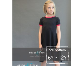 NEW Kopic tunic dress PDF sewing pattern and tutorial 6-12y  tunic dress jumper  easy sew