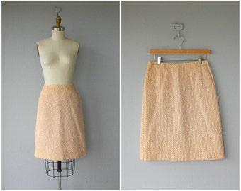 Vintage Wool 60s Skirt | Vintage 1960s Skirt | Pink Skirt | A-Line Skirt | Pastel Skirt