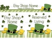 St Patrick's Day Etsy Banner Set - Saint Patrick's Day  - Etsy Banners - Etsy Shop Banners - Premade Etsy Banners - 3 Piece Set - 1