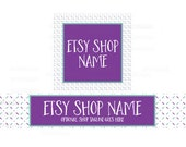 Etsy Shop Banners - Etsy Banners - Geometric Etsy Banners - Purple Etsy Shop Banners - Etsy Banner Sets - 2 Piece - 4-16