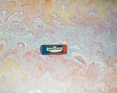 marbled paper,   cm 50 X 70  - 857