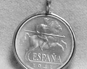 Spain Coin Pendant (E-961)